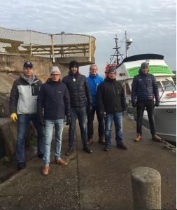 Hisingsbrons ledningsgrupp. Peo, Per, Henrik, Peter, Mattias och Linus.