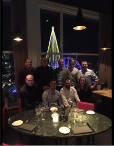 Skanska Väg och anläggnings chefsutbildning avslutades traditionsenligt med räkmacka på 23 våningen i Göteborg